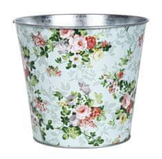 Esschert Design zinkový květináč s růžemi