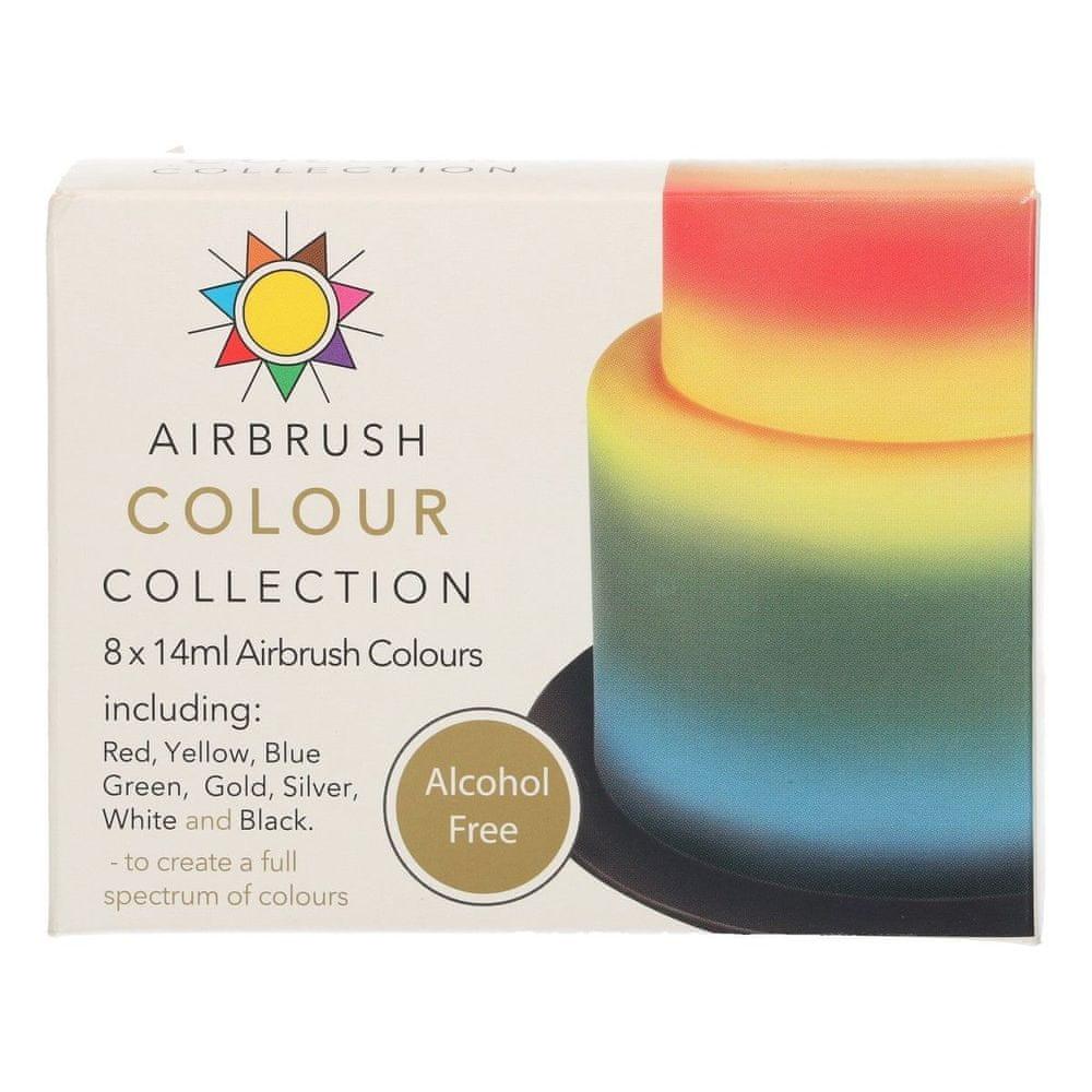 Sada barev na airbrush bez alkoholu 8x14ml