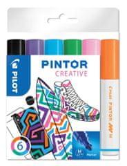 Pilot Set dekorativních popisovačů Pintor M, 6 barev fun, 1,4 mm