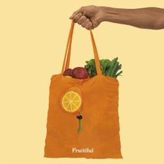Luckies Oranžová skládací nákupní taška ve tvaru pomeranče Fruitiful Fruit Bags