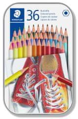Staedtler kredki, 36 różnych kolorów, zestaw, sześciokątne