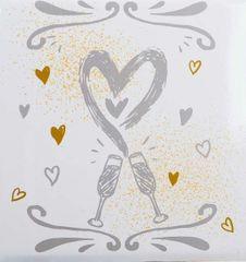 FANDY  Fotoalbum samolepiace 27x32,5 cm 60 strán svadobné Cheers 2