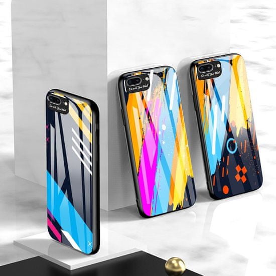 MG Color Glass Case Durable ovitek za iPhone 7/8 Plus, pattern 4