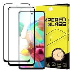 MG Full Glue Super Tough 2x zaščitno steklo za Samsung Galaxy A71, črna
