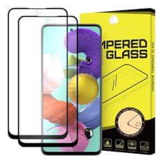 MG Full Glue Super Tough 2x zaščitno steklo za Samsung Galaxy A51, črna
