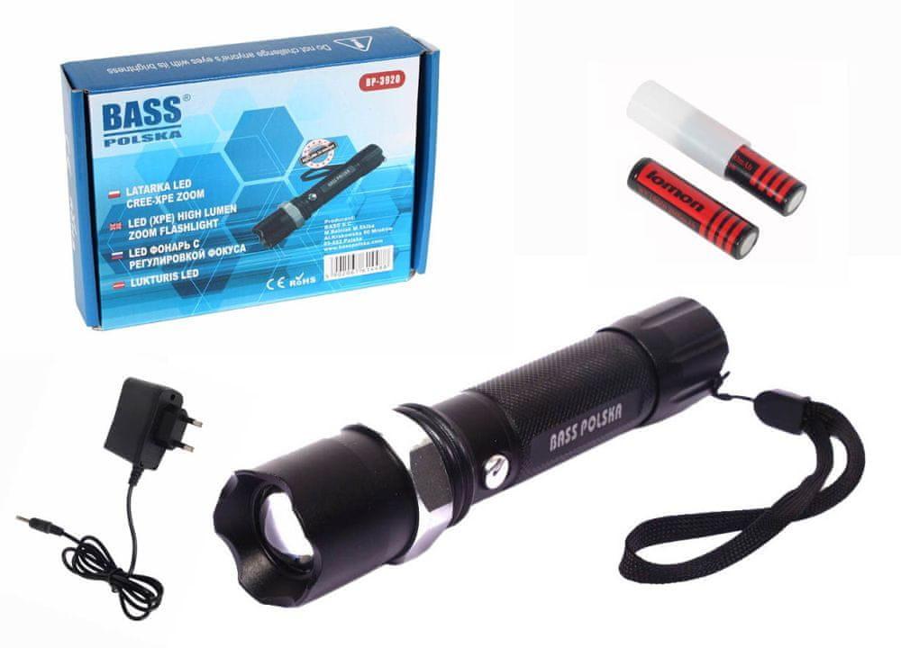Bass LED svítilna, baterka dobíjecí, voděodolná, BASS BP-3920