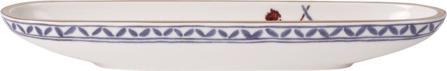 Villeroy & Boch skledica, 28x8 cm, rože