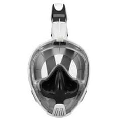 Spartan M2101 potapljaška maska in dihalka, bela/črna
