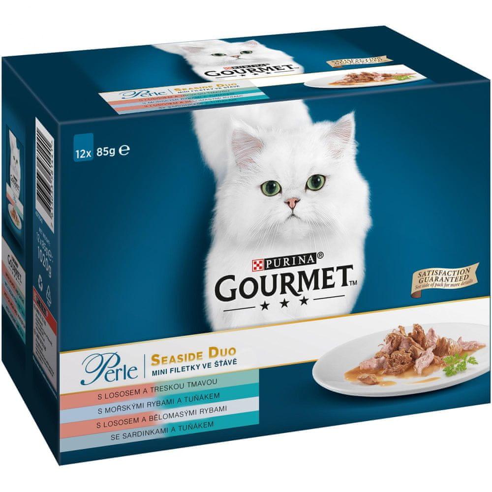 Gourmet Perle multipack minifiletky ve šťávě rybí Duo 6x(12x85 g)