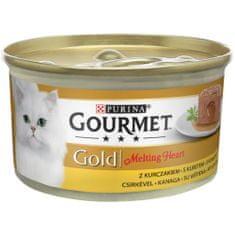 Gourmet Gold Melting Heart piščančja pašteta z omako za mačke, 24x 85 g