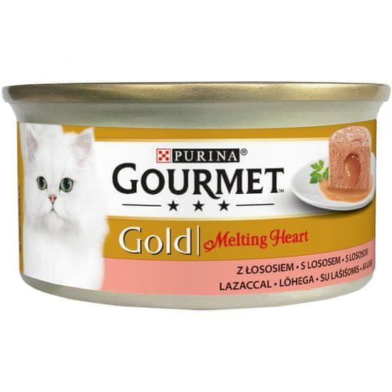 Gourmet Gold Melting Heart mus z sosem z łososiem 24x85 g