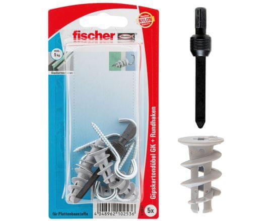Fischer Hmoždinky do sádrokartonu s otevřeným háčkem - 5ks