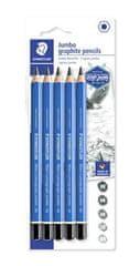 "Staedtler Grafitové ceruzky ""Design Journey Lumograph"", 5 tvrdosťou, jumbo, šesťhranné 100J-S BK5"