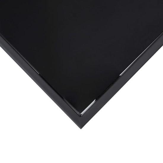 shumee Vrtna barska miza črna 110x60x110 cm kaljeno steklo