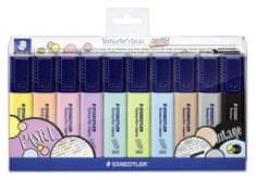 Staedtler Zvýrazňovače Textsurfer Classic Pastel, sada 10 různých barev