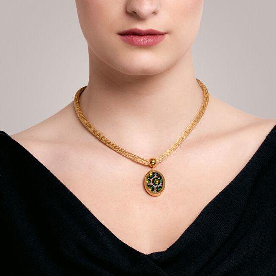 Preciosa Rozsdamentes acél medál nyaklánc, Idared 7360Y41