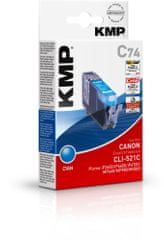 KMP Canon CLI-521C (Canon CLI 521 C) modrý inkoust pro tiskárny Canon