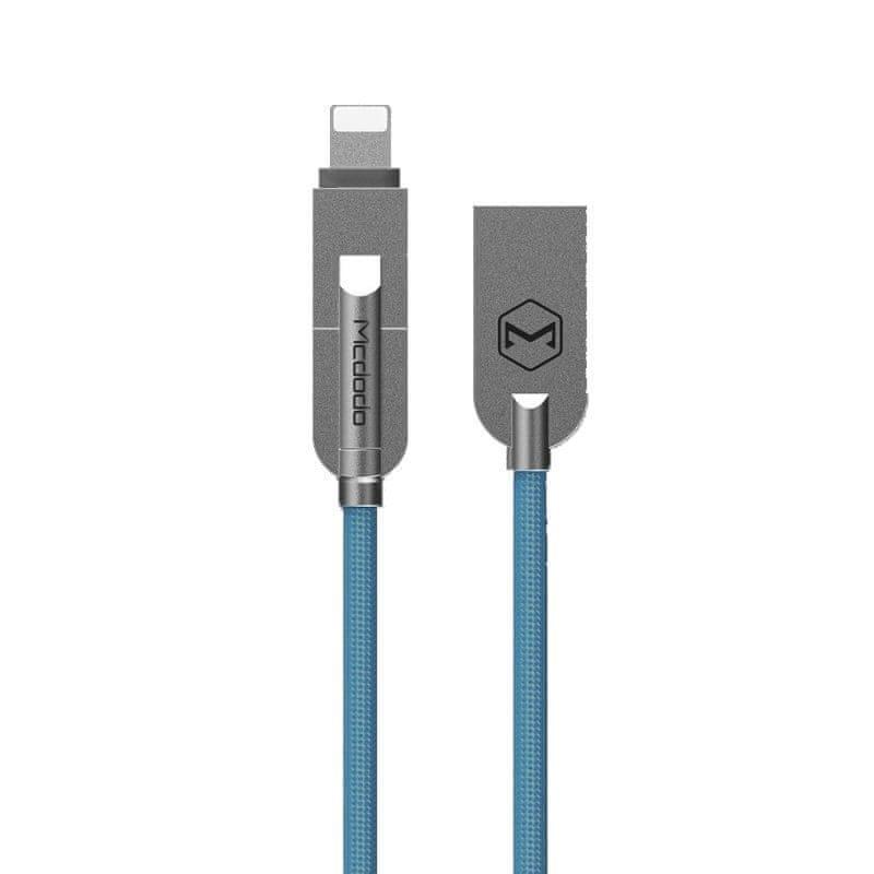 Mcdodo nabíjecí / datový kabel micro USB s redukcí na lightning 1,2m modrá