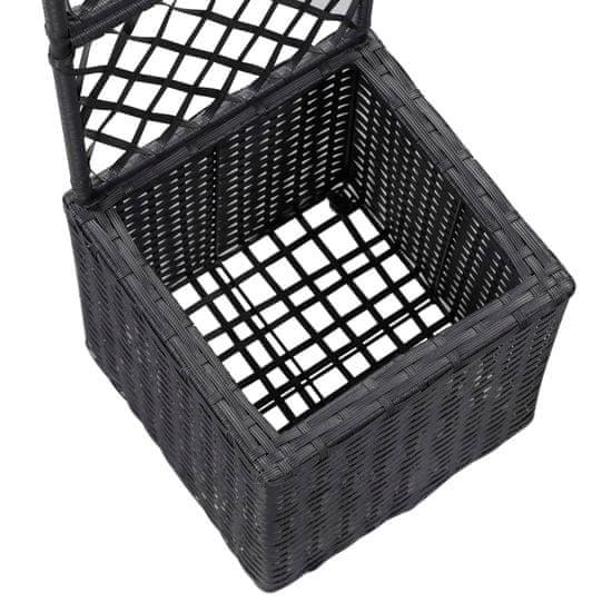 shumee Visoka greda z oporno mrežo in 1 loncem 30x30x107 cm črna