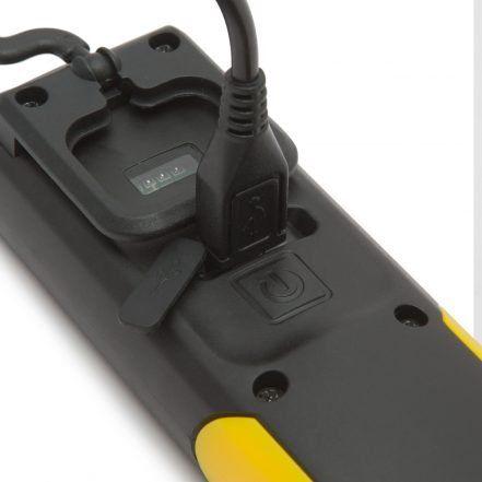 PHENOM USB COB LED akumulatorska delovna svetilka 2v1 z magnetom in LED indikatorjem stanja baterije