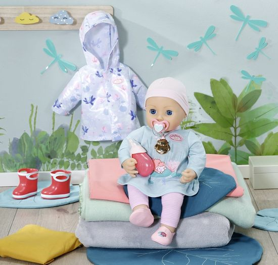Baby Annabell punčka, 43 cm + dežna oblačila