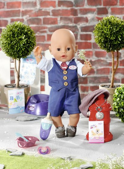 BABY born Soft Touch, deček v elegantnih oblačilih, 43 cm