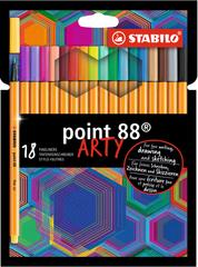 Stabilo Linery Point 88 ARTY, 18 rôznych farieb