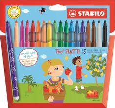 Stabilo Fixy Trio Frutti, 18 různých barev, voňavé