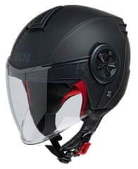 iXS motoristična odprta JET čelada z vizirjem iXS 851 1.0, mat črna, XS