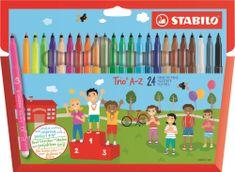 Stabilo Fixy Trio A-Z, sada, 24 různých barev, 0,7 mm