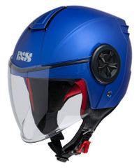 iXS motoristična odprta JET čelada z vizirjem iXS 851 1.0, mat modra, S