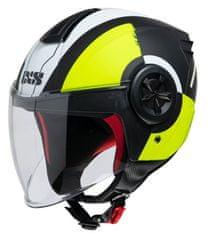 iXS Otvorena JET kaciga za motocikle s vizirom iXS 851 2.0, crna/žuta, S