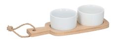 TimeLife Sada na servírovanie pochutín 22 cm x 8,5 cm porcelán bambus