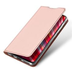 Dux Ducis Skin Pro usnjeni flip ovitek za Xiaomi Redmi Note 8 Pro, roza