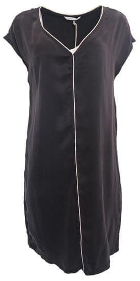 YAYA Voľné šaty s predným lemom Yaya Čierna 36