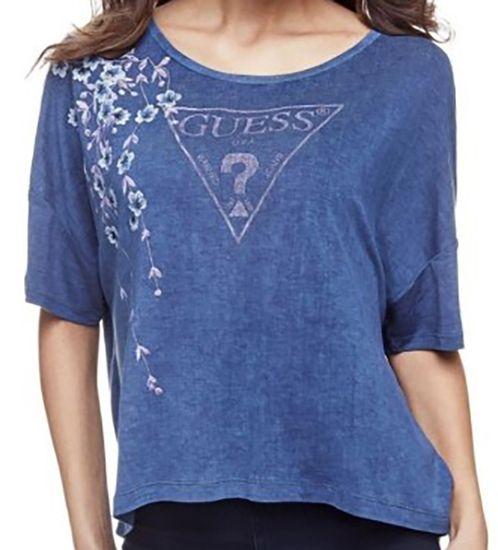 Guess Luźna koszulka GUESS Blue
