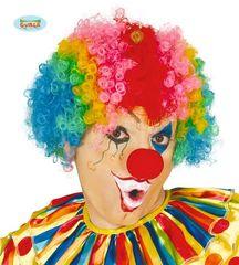 Paruka AFRO - klaun - barevná