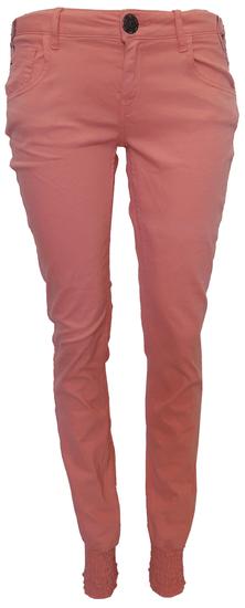 Desigual farebné nohavice s výšivkou Lososová 28