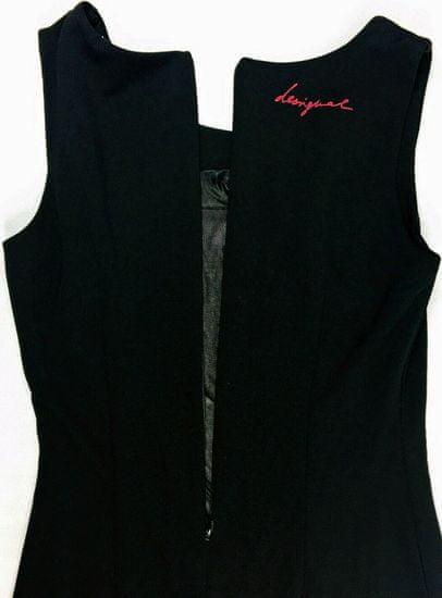 Desigual Čierne kárované šaty Desigual Čierna XL