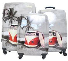 Skořepinové kufry s autobusem Borderline Velikost: velký