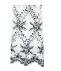 Lene Bjerre Vyšívaný ubrus PHILINA 160 x 180 černá/bílá