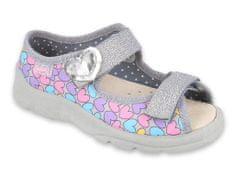 Befado Dívčí sandálky Max 869Y135 31 šedá - zánovní