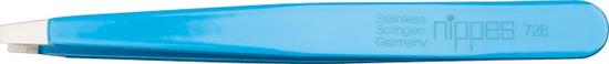 Nippes Solingen 728 pinceta, s ravnim vrhom, nehrđajući čelik, 9,5 cm, plava