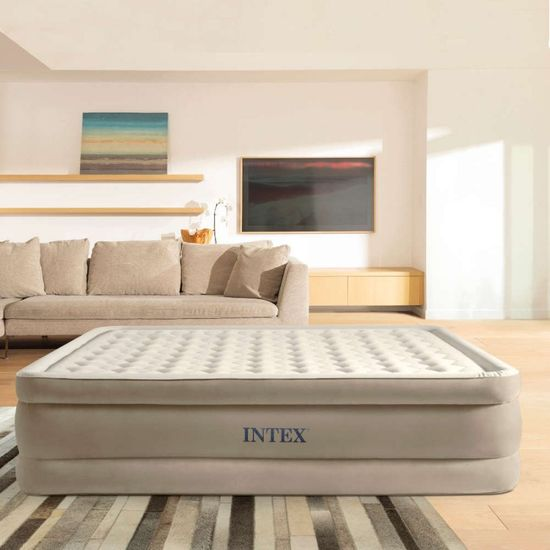 Intex napihljiva postelja Queen Ultra Plush Fiber Tech