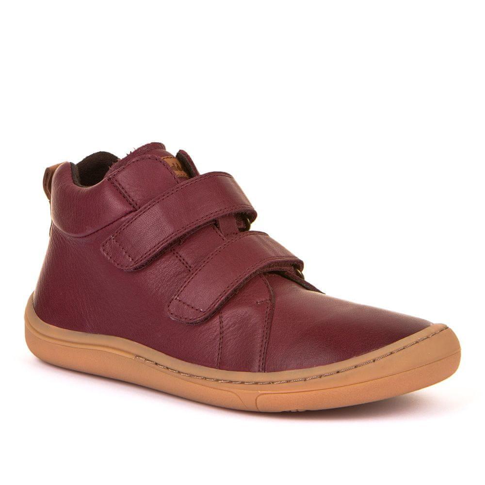 Froddo Dětská kotníková barefoot obuv G3110169-2 33 bordó