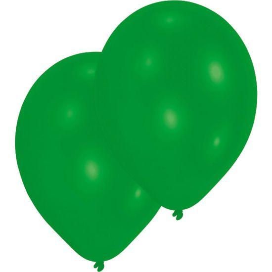 Amscan 10ks Latexových balónků zelené barvy 27,5cm