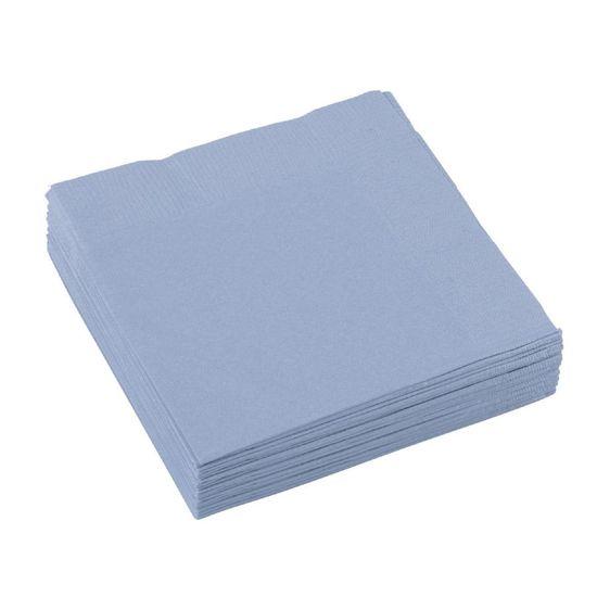 Amscan Ubrousky pastelově modré 20ks 25x25cm