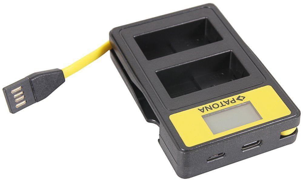 PATONA Nabíječka Foto Dual Panasonic DMW-BLC12 E s LCD, USB PT141625