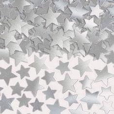 Amscan Konfety na párty stříbrné hvězdičky - fólie 141g