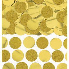 Amscan Konfety na párty zlatá kolečka 63g